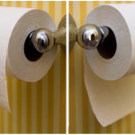 toilet roll over or under